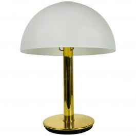 German Midcentury Solid Brass Table Lamp by Limburg, 1960s