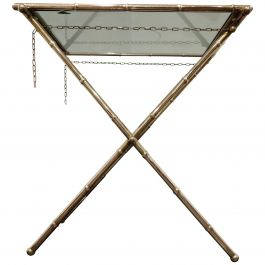 Vintage Faux Bamboo Folding Table, 1950s