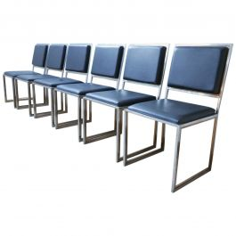 A Set of Six Hollywood Regency Dining Chairs (6)