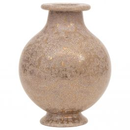 Art Deco Stoneware Vase with Gold Flecking by Lucien Brisdoux