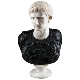 Imperial Marble Bust of Caesar Augustus after the Discovery at Villa of Livia