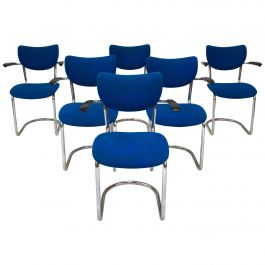 Set of Six De Wit 3011 Armchairs