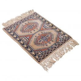 Small Vintage Hamadan Rug, Persian, Woollen, Hall, Prayer, Mat, Mid-20th Century