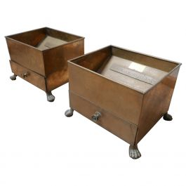 Antique Cigar and Cigarette Ends Brass Bins 'ONE AVAILABLE'