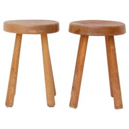 Very Rare Set of Charlotte Perriand 4 Legs Configuration Stools