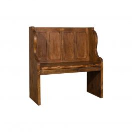 Antique Two Seat Settle, English, Oak, Pine, Ecclesiastic, Pew, Bench, Victorian