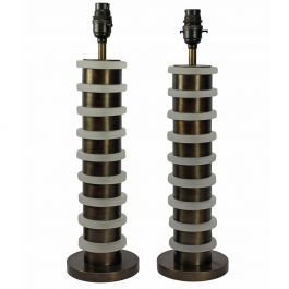 Pair of Industrial Style Table Lamps