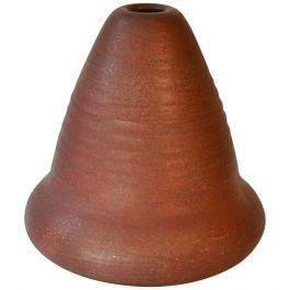 Sculptural Studio Pottery Vase with Ox Red Glaze 1960's
