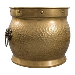 Antique Coal Box, English, Brass, Fireside, Log Bin, Fire, Victorian, circa 1900