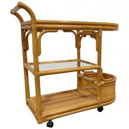 Vintage Bamboo Trolley, 1970s