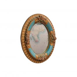 Antique Decorative Wall Mirror, German, Oval, Black Forest, Victorian circa 1900
