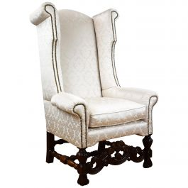19th Century Carolean Style Wing Back Armchair