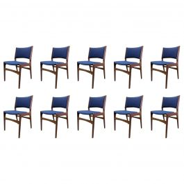Set of Ten Danish Fully Restored Erik Buch Dining Chairs, Inc. Re-Upholstery