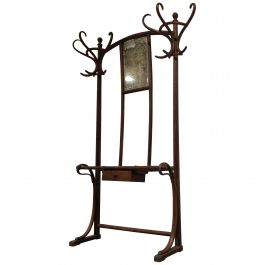Thonet No.4 Coat Stand with Mirror, 1920s