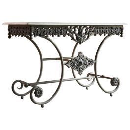 Antique French Boulangerie Pastry Table France, circa 1890