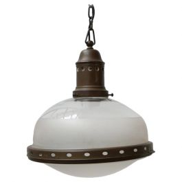 Antique Two Tone Pendant Light by B.A.G