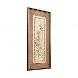 Antique Decorative Silk Panel, Chinese, Framed Needlepoint Tapestry, Circa 1900