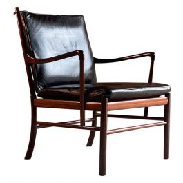 Ole Wanscher Model 149 Rosewood Colonial Chair by Poul Jeppesens, Denmark