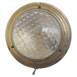 Brass and Faceted Glass Dutch Wall Lights '3'