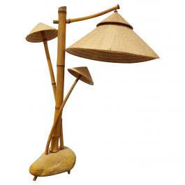 Vintage Bamboo Table Lamp, 1980s