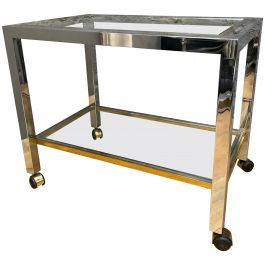 French Brass and Chrome Bar Cart