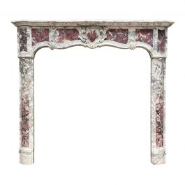 An 18th Century Provincial Louis XV Style Marble Fireplace Mantel