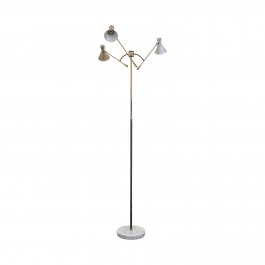 1950s Three-Arm Italian Floor Lamp