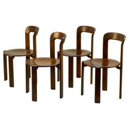 Set of Four Bauhaus Dining Chairs by Bruno Rey