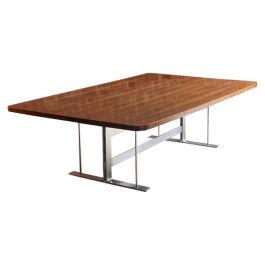 Midcentury Rosewood Conference Boardroom Dining Table, circa 1970