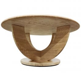 Vintage Round Ravertine Coffee Table, 1970s