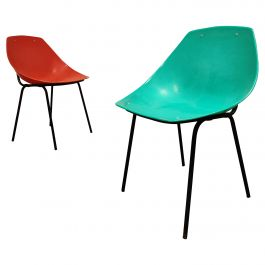 Vintage Coquillage Chairs by Pierre Guariche for Meurop, 1960s