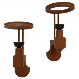 Guillerme et Chambron Pair of French Mid-Century Wall Lights