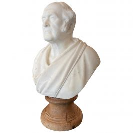 Classical Antique Statuary Marble Bust