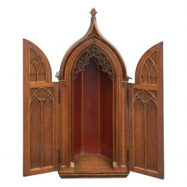 19th Century Gothic Display Cabinet Cupboard Tabernacle French Chateau Chapel