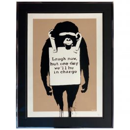 Banksy Laugh Now 2003 Unsigned