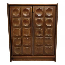 Brown Brutalist Bar Cabinet, 1970s
