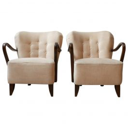 Pair of Art Deco French Armchairs