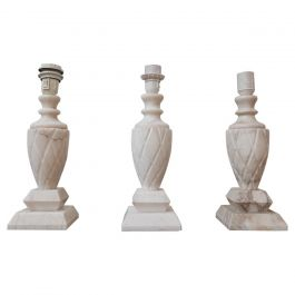 Mid-Century White Marble Swedish Table Lamps '3'