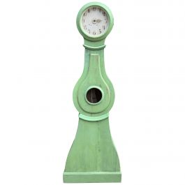 Swedish Mora Clock Moss Green Early 1800s Antique Hand Painted Large Head