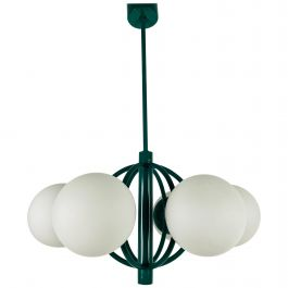 Large Green Kaiser Midcentury 6-Arm Space Age Chandelier, 1960s, Germany