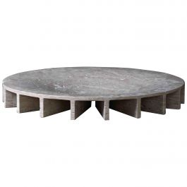 Large Travertine 'Ray' Bowl By Collection Particulière
