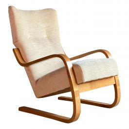 Alvar Aalto Model 36 / 401 Cantilever Lounge Chair by Finmar Finland, circa 1940