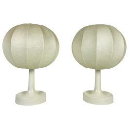 Pair of Cocoon Table Lamps, 1960s
