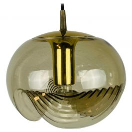Amber Glass Pendant Lamp by Koch & Lowy for Peill and Putzler, 1960
