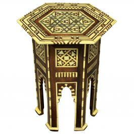 Moorish Bone and Mother of Pearl Side Table