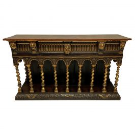 English Romanesque Sideboard in the Manner of William Burges