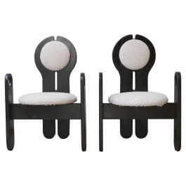 Pair of Mid-Century Lounge Armchairs by Szedleczky Design