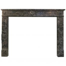 19th Century Antique Louis XVI Style Fireplace Mantel