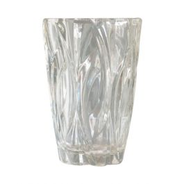Vintage French Small Clear Glass Vase