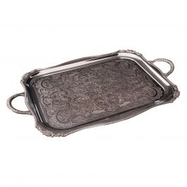 Vintage Serving Tray, English, Silver Plated Afternoon Tea Platter, Viners, 1940